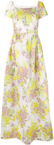 Max Mara floral print dress - women - Silk/Cotton/Polyamide/Metallic Fibre - 38