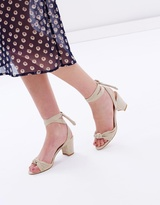 Spurr Aria Lace-Up Block Heels