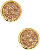 Saachi Round Druzy Stud Earrings