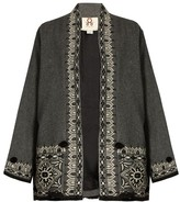 Figue Haveli embroidered wool and cashmere-blend jacket