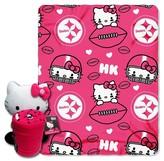 Hello Kitty NFL Pittsburgh Steelers Blanket and Hugger Bundle (40 x 50 )