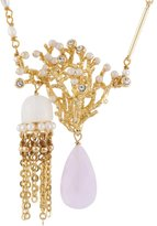 Les Nereides ATLANTIDE JELLYFISH AND CORAL AND PINK DROP SHORT NECKLACE - White - O/S