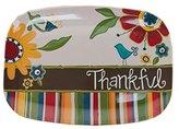 Glory Haus Thankful Floral Melamine Platter