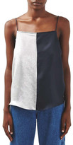 Topshop Colorblock Silk Camisole