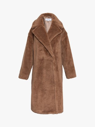 Gerard Darel Polin Faux Fur Coat, Camel