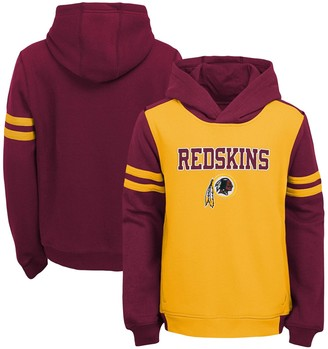 Redskins Youth Gold Washington Retro Colorblock Pullover Hoodie
