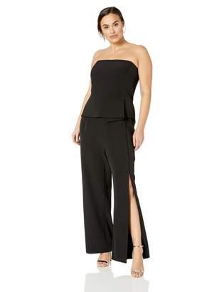 City Chic Women's Apparel Women's Plus Size Solid Twist Detail Jumpsuit
