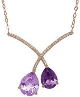 Lord & Taylor Amethyst and 14K Rose Gold Necklace