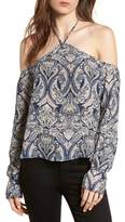 Cupcakes And Cashmere Akasha Paisley Halter Top