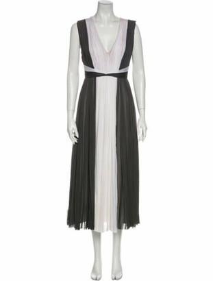 J. Mendel Silk Long Dress Grey