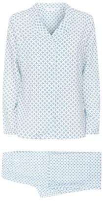 Derek Rose Ledbury Geometric Print Pyjama Set