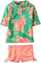 Carter's Toddler Girls' Floral Rashguard Set