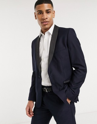 French Connection slim fit tuxedo suit jacket
