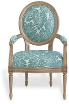 """The Well Appointed House Avery Antiqued Ivory Chairs with """"Capri Leaves"""" Fabric - Set of 2"""