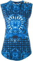 Balmain printed tank top