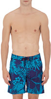 Sundek MEN'S TROPICAL FLORAL-PRINT SWIM TRUNKS
