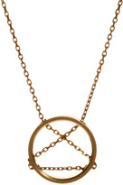 Gogo Philip Circle And Chain Pendant Necklace