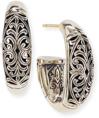 Konstantino Sterling Silver Etched Hoop Earrings