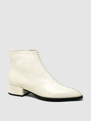 Sylven CASSIDY White Leather Boot