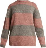 Acne Studios Albah striped alpaca-blend sweater