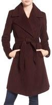 Diane von Furstenberg Women's Wool Blend Wrap Coat