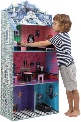 Teamson Kids Monster Mansion Dollhouse With Furniture