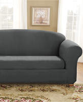 Sure Fit Stretch Suede Box Cushion Sofa Slipcover