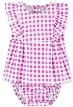 Carter's Baby Girls Ruffled Gingham-Print Cotton Sunsuit