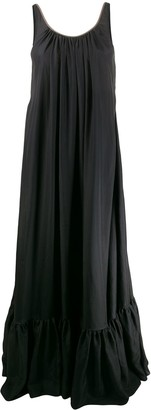 Brunello Cucinelli Flared Maxi Dress