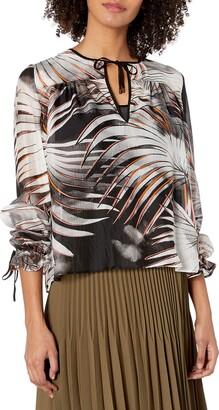 Just Cavalli Women's Tye Dye Palm Print Top
