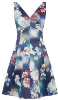 "Oasis PHOTOGRAPHIC SKATER DRESS [span class=""variation_color_heading""]- Multi Blue[/span]"