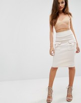 High Waist Skirt With Pockets - ShopStyle