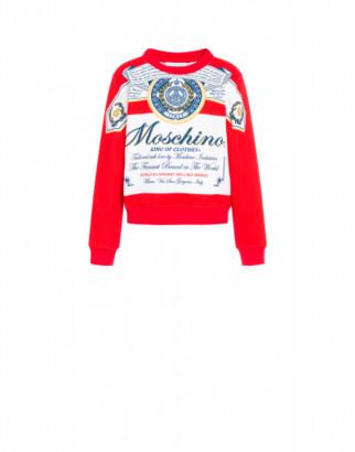 Moschino Budweiser Sweatshirt Woman Red Size 38 It - (4 Us)