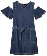 Tommy Hilfiger Denim Dress (Big Kids) (Tompkins Wash) Girl's Dress