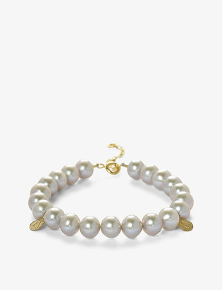 THE ALKEMISTRY Cinta 18ct yellow gold and pearl beaded bracelet