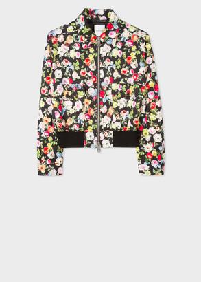 Paul Smith Women's Cotton-Blend 'Archive Rose' Print Jacket