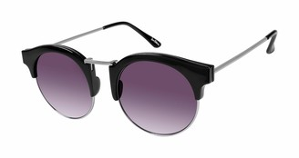 Sam Edelman Women's SE105 Round Metal Sunglasses with Solid Brow & 100% UV Protection