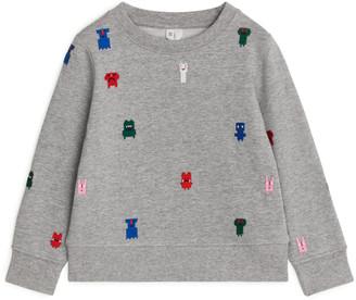 Arket Monster Embroidered Sweatshirt