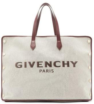 Givenchy Bond Large Logo Print Canvas Tote Bag - Womens - Cream Multi