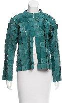 Giorgio Armani Patchwork Ponyskin Leather Jacket