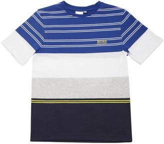 HUGO BOSS Striped Cotton Jersey T-shirt