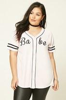 Forever 21 FOREVER 21+ Plus Size Babe Baseball Tee
