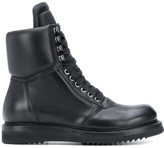 Rick Owens Perforated Military Boots