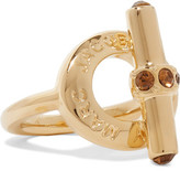 Marc by Marc Jacobs Toggle Gold-Tone Crystal Ring