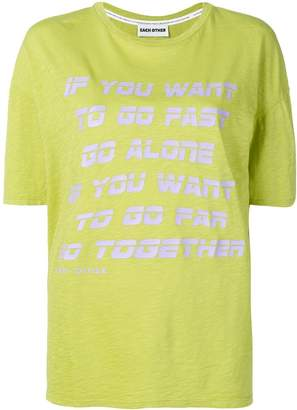 Each X Other Go Together print T-shirt