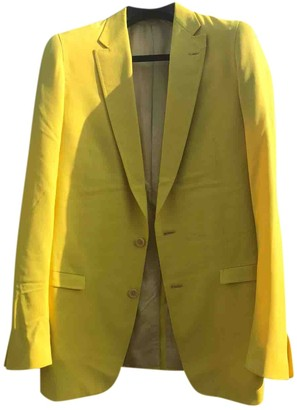Carol Christian Poell Yellow Wool Suits