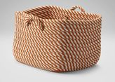 Ethan Allen Large Orange and White Basket