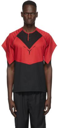 KIKO KOSTADINOV Red and Black Kenneth Jersey T-Shirt