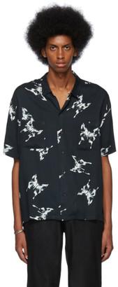 Nahmias Black Butterfly Short Sleeve Shirt
