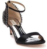 Badgley Mischka Adora Embellished Kitten Heel Sandal